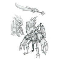 Spadamon sketch super xros wars6.png