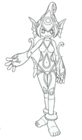 Ranamon lineart2.png