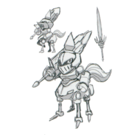 Spadamon sketch super xros wars4.png