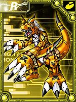 Growmon orange collectors card.jpg