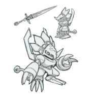 Spadamon sketch super xros wars.png