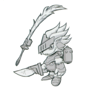 Spadamon sketch super xros wars11.png
