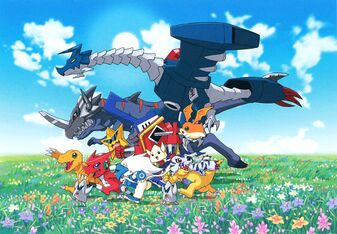 Digimon Story Super Xros Wars Blue promo art