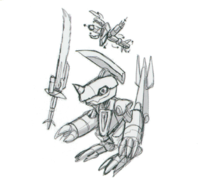 Spadamon sketch super xros wars8.png