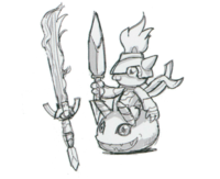 Spadamon sketch super xros wars7.png