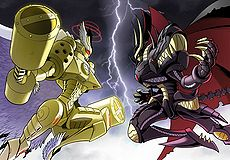 Jupitermon vs. Plutomon (Digimon Crusader)