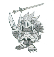Spadamon sketch super xros wars9.png
