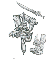 Spadamon sketch super xros wars2.png