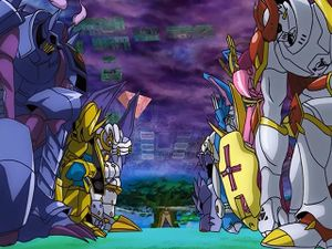 Royal Knights Wikimon The 1 Digimon Wiki Sometimes royal knights are touch starved, and sometimes singing them hozier songs can fix that. royal knights wikimon the 1