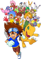 The Chosen Children and their Partner Digimon (Digimon Adventure for PSP)