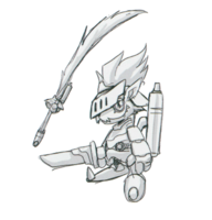 Spadamon sketch super xros wars3.png