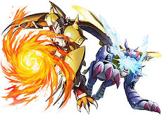 War Greymon & Metal Garurumon (Digimon World -next 0rder-)