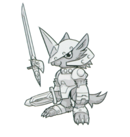 Spadamon sketch super xros wars10.png